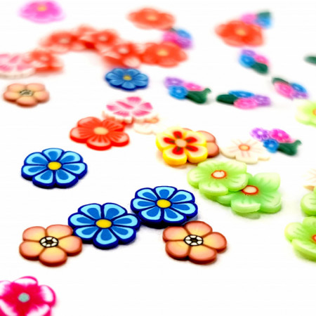 Decoratiuni Unghii Fimo Modele si Culori Diferite, Disc Nail Art