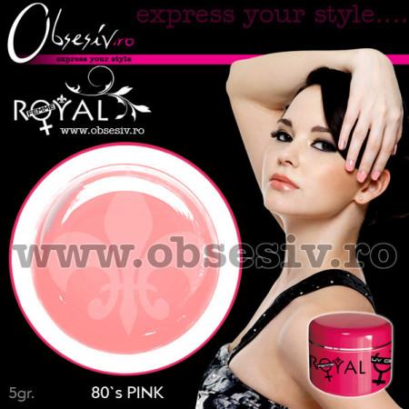 Gel colorat unghii Royal Femme 80`s PINK (Geluri Profesionale Unghii)
