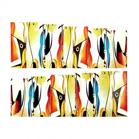 Stickere Unghii pe Bază de Apă (ABSTRACT), Cod LR-2093 (Abtibilduri Unghii - Tatuaje Unghii - Nail Stickere - Water Nail Art)