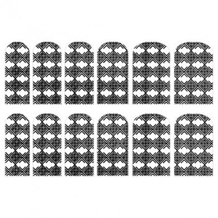 Abtibilde Unghia Intreaga 12 Buc, FD024, Stickere Unghii