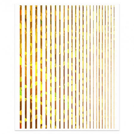 Abtibilde Unghii Motive Decorative Liniare, Linera Gold Reflection.  Stickerele pentru unghii sunt accesorii nail art cu ajutorul carora putem da o nota de eleganta, rafinament sau o nota artistica manichiurii.  Beneficii:  aplicare simpla si rapida efect