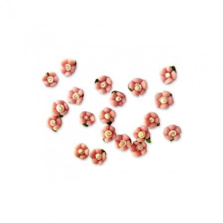 Flori Ceramica Unghii 10 Buc, Culoare Roz