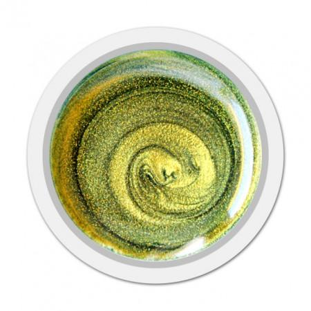 Gel Color Unghii, Exclusive Nails, Cod 027 Sidefat, Culoare METALLIC EMERALD, Geluri Colorate Unghii Exclusive Nails