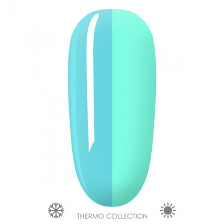 Oja Semipermanenta Thermo Aurora T01, Culori Albastru > Verde