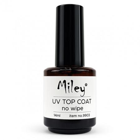 Top Coat Uv Fara Degresare Miley Uv Top No Wipe, Cantitate 14ml