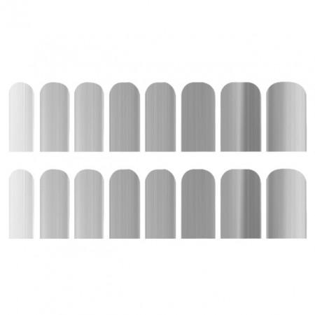 Abtibilde Unghia Intreaga 16 Buc, Silver, Stickere Unghii