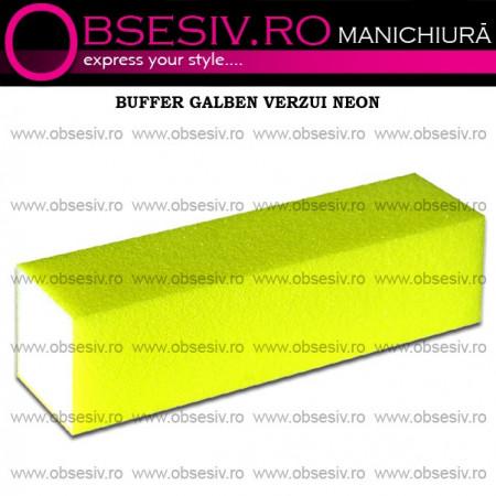 Buffer Unghii Galben Verzui Neon - 180 Granulaţie