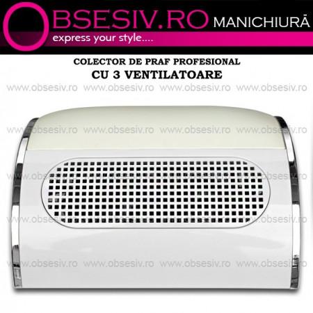 Colector Praf cu 3 Ventilatoare pentru Manichiura