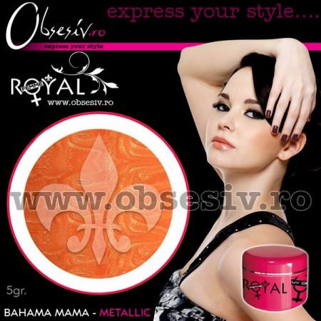 Gel colorat unghii Royal Femme BAHAMA MAMA METALLIC (Geluri Profesionale Unghii)