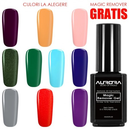 Kit Oja Semipermanenta Aurora 10 + Magic Remover CADOU