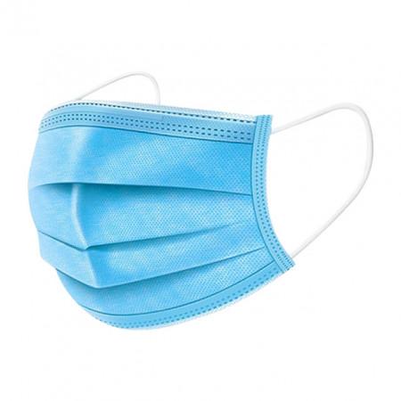 Masca Medicala Gura si Nas cu 3 Straturi, Plic 5 Bucati, Culoare Albastru