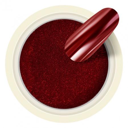 Pigmenti Unghii Mirror Culoare Rosu Visiniu Mineral Cod PM11