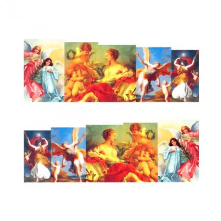 Stickere Unghii pe Bază de Apă, Model FIGURINE STIL BAROC 03, Cod LR-775 (Abtibilduri Unghii - Tatuaje Unghii - Nail Stickere - Water Nail Art)