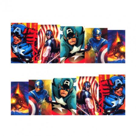 Stickere Unghii pe Bază de Apă (SUPERHEROES), Cod LR-705 (Abtibilduri Unghii - Tatuaje Unghii - Nail Stickere - Water Nail Art)
