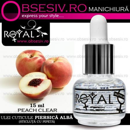 Ulei Cuticule Piersica Royal Femme Peach Nature, 15 ml