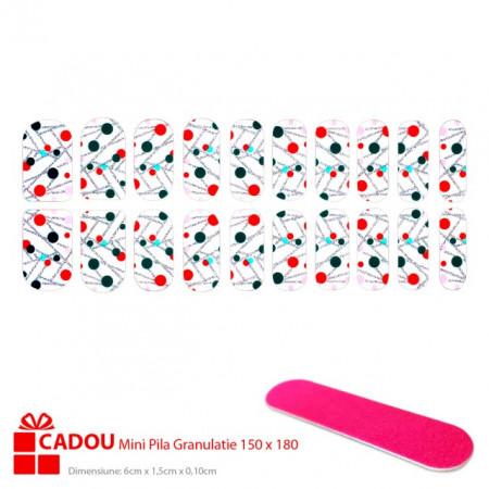 Abtibilde Unghii JY 194, Stickere Manichiura 20 Buc. + Cadou Mini Pila