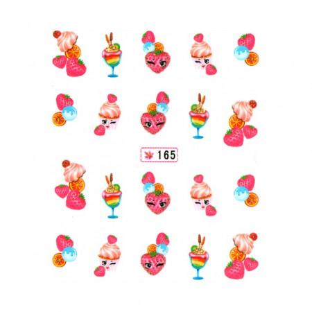 Abtibilde Unghii pe Baza de Apa, Stickere Profesionale Unghii, 165