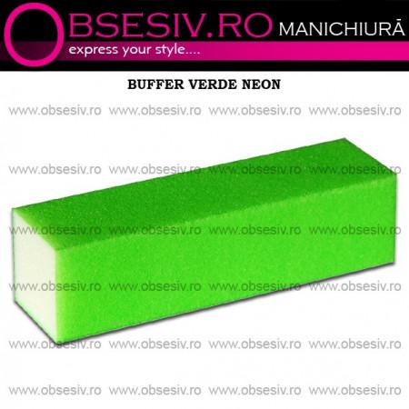Buffer Unghii Verde Neon - 180 Granulaţie