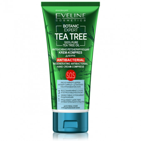 Crema Maini Antibacteriana Puternic Regeneranta 3in1 Botanic Expert Tea Tree Oil 100% Pure Eveline
