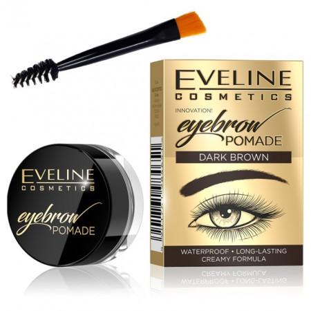 Fard Sprancene Eveline Cosmetics Eyebrow Pomade, Dark Brown