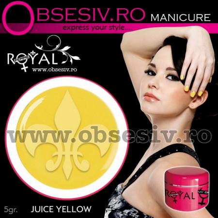 Gel colorat unghii Royal Femme JUICE YELLOW (Geluri Profesionale Unghii)