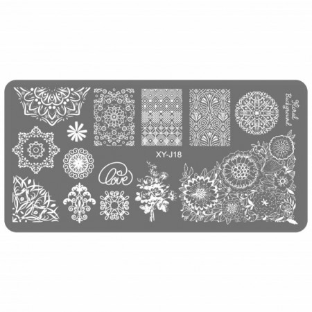 Matrita Metalica Gravata in Profunzime, Cod XY-J18, Placa Stampila Unghii