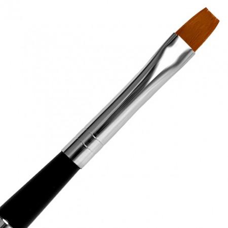 Pensula Gel Dreapta, No 4, Pensula cu Maner si Capac Metalic, Jerome Stage