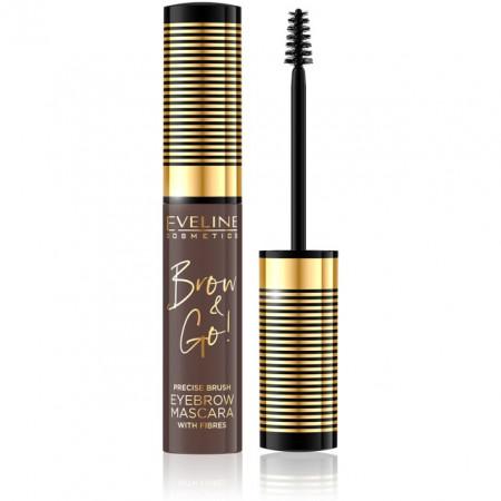 Rimel Sprancene cu Fibre 'Brow & Go' Eveline Cosmetics, 01 Light