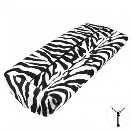 Suport Maini Manichiura Material Usor Plusat Model Zebra, Husa cu Fermoar