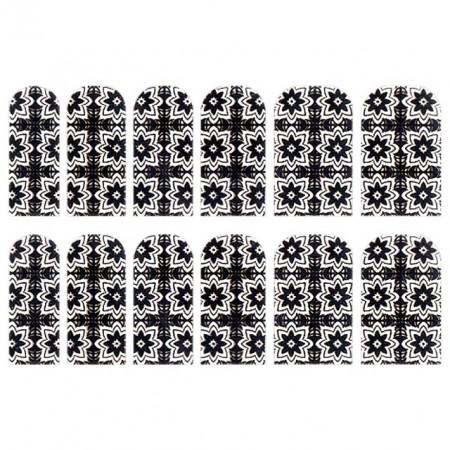 Abtibilde Unghia Intreaga 12 Buc, FD025, Stickere Unghii
