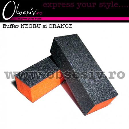 Buffer Unghii Granulatie 100/180, Negru/Portocaliu