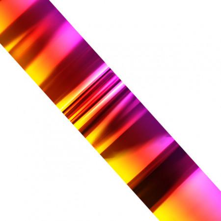 Folie Decorativa Transfer Manichiura, Metallic Sunset Rainbow