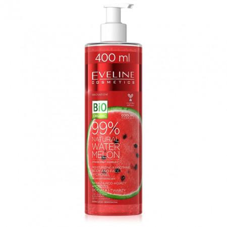 Hidrogel Hidratant si Calmant Corp si Fata Bio Organic Pepene Rosu Natural 99% Eveline Cosmetics