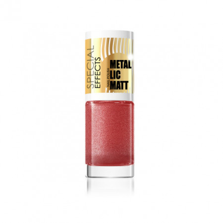 Lac Metalic Unghii, Eveline Cosmetics Metallic Matt, Cod 183