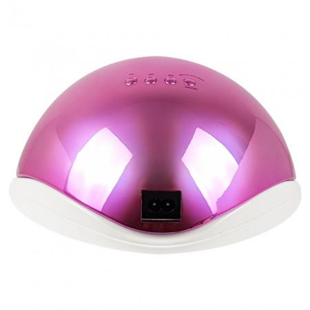 Lampa LED/UV 48Watt cu Aprindere Automata la Senzor, Aurora Pink