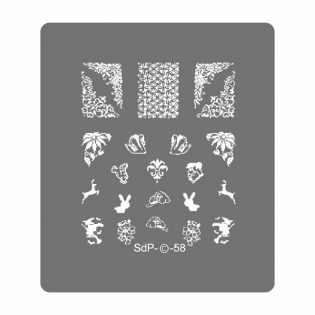 Matrita Metalica Gravata in Profunzime, Cod SdP-58, Placa Stampila Unghii