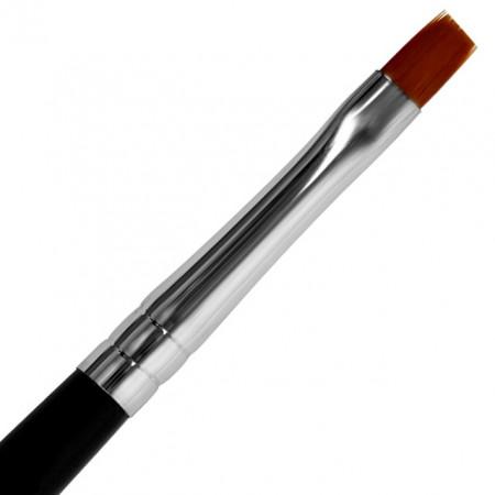 Pensula Gel Unghii Nr 6, Maner si Capac Metalic Visiniu