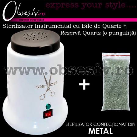 Sterilizator Instrumental Metalic cu Bile de Quartz