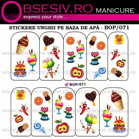 Abţibilde pe Bază de Apă (4 seturi) BOP/068 - BOP/071 (Abtibilduri Unghii - Tatuaje Unghii - Nail Stickere - Water Nail Art)