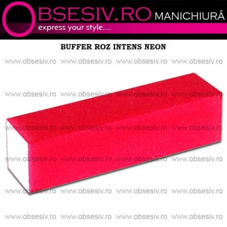 Buffer Unghii Roz Intens Neon - 180 Granulaţie