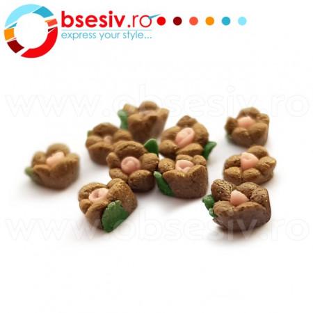 Flori Ceramica Unghii Cod FC05 10 Buc, Accesorii Nail Art