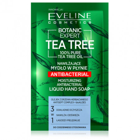 Sapun Lichid Hidratant Antibacterian 3in1 Botanic Expert Tea Tree Oil 100% Pure Eveline