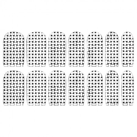 Abtibilde Unghia Intreaga 14 Buc, S1124, Stickere Unghii