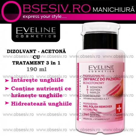 Acetona cu Tratament 3 in 1 Eveline Cosmetics 190 ml