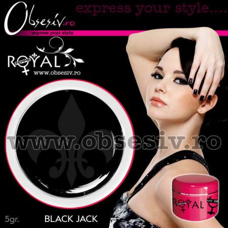 Gel colorat unghii Royal Femme BLACK (Geluri Profesionale Unghii)