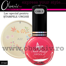 Lac Special Stampile Unghii Roz, OP09, 10ml