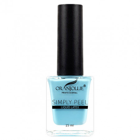 Latex Lichid Cuticule Oranjollie Culoare Albastru 15 ml