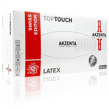 Manusi Examinare din Latex Extra Sensitive Akzenta Swiss Edition Alb 100 Buc