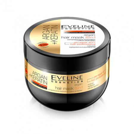 Masca de Par 8in1 Restaurare si Protectie Culoare  cu Argan si Keratina+ Eveline Cosmetics