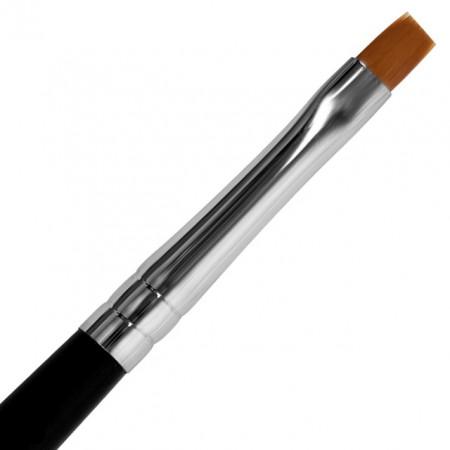 Pensula Gel Unghii Nr 4, Maner si Capac Metalic Visiniu